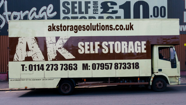 ak storage and removals sheffield truck